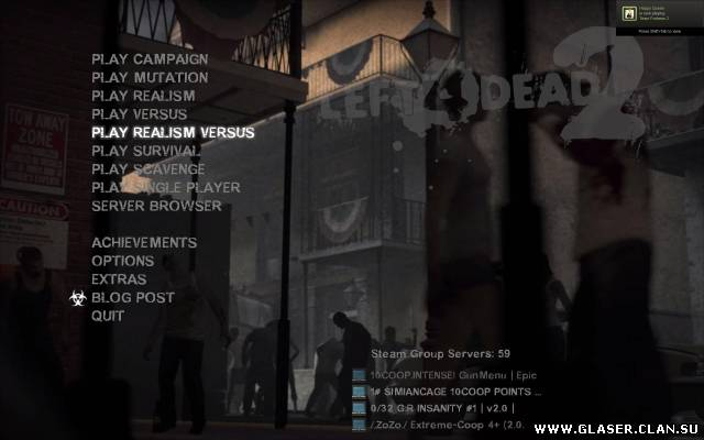 L4D2 Simple Main Menu